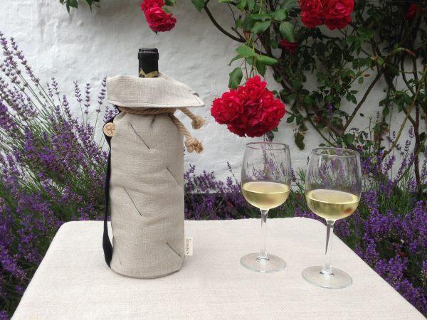 Bæredygtig vinkøler, set fra siden