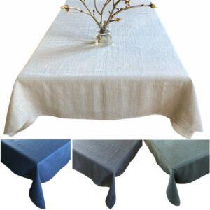 Hørdug i forskellige farver: natur, blå,grå og grøn - kan bestilles på specialmål