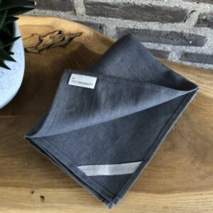 Hørviskestykke Carbon grey