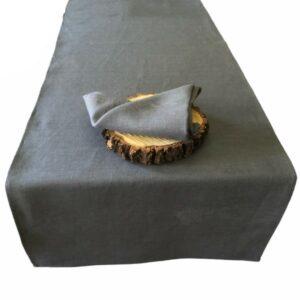 Grå bordløber i 100% hør - Gray tablerunner 100% linen.